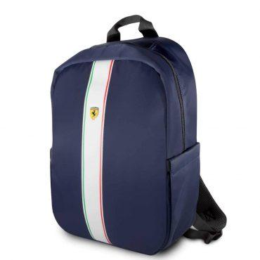 حقيبة ظهر Pista مع شعار فيراري مقاس 15 إنش مع كابل شحن من Ferrari - كحلي
