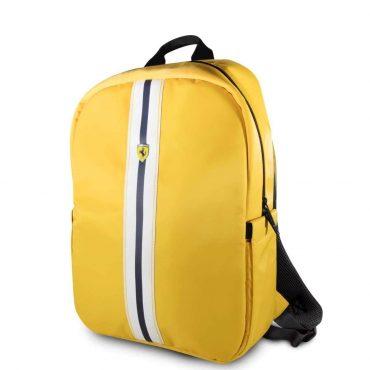 حقيبة ظهر Pista مع شعار فيراري مقاس 15 إنش مع كابل شحن من Ferrari - أصفر