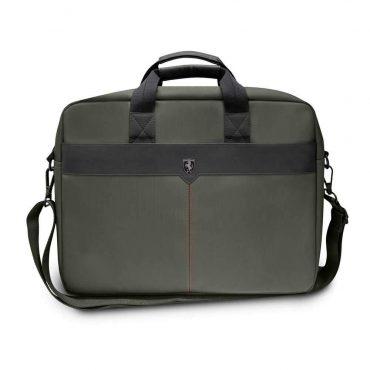 حقيبة حاسوب 15 بوصة مع كابل شحن من Ferrari - كاكي