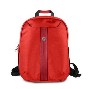 حقيبة ظهر فاخرة 15 إنش من فيراري - أحمر