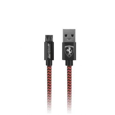 كابل USB نايلون 1.5 متر من Ferrari - أحمر