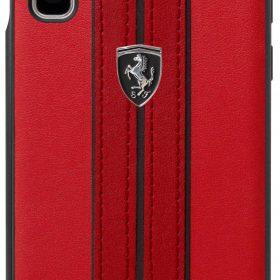 كفر جلدي PU فاخر لجالكسي Note 10 من Ferrari - أحمر