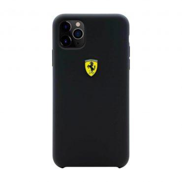 كفر سيليكون قوي SF مع شعار فيراري لآيفون 11 Pro Max من Ferrari - رمادي داكن