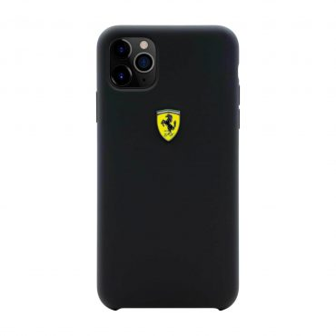 كفر سيليكون قوي SF مع شعار فيراري لآيفون 11 Pro  من Ferrari - رمادي داكن