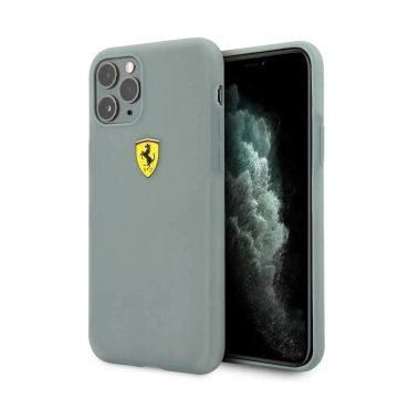 كفر سيليكون شفاف  مع شعار فيراري لآيفون 11 Pro Max من Ferrari - أخضر