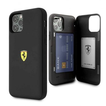 كفر قوي PC/TPU لآيفون 11 Pro Max  من Ferrari - أسود