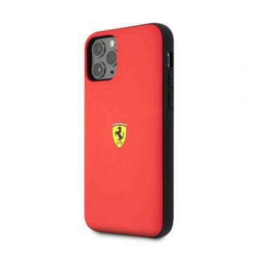 كفر قوي PC/TPU لآيفون 11 Pro من Ferrari - أحمر