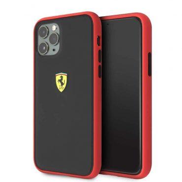 كفر أصلي PC/TPU لآيفون 11 Pro  من Ferrari - إطار أحمر/ أسود