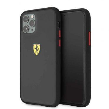 كفر أصلي PC/TPU لآيفون 11 Pro  من Ferrari - إطار أسود/ أسود