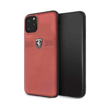 كفر جلدي لآيفون 11 Pro Max  من Ferrari - أحمر