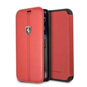كفر دفتر فاخر Heritage لآيفون X من Ferrari - أحمر