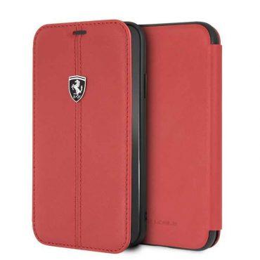 كفر دفتر فاخر Heritage لآيفون Xr من Ferrari - أحمر