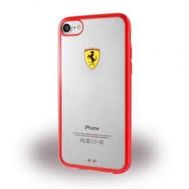 كفر فاخر Shield TPU شفاف لآيفون 7 من Ferrari - أحمر
