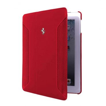 كفر جلدي دفتر لآيباد Apple من Ferrari - أحمر