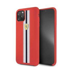 كفر سيليكون أنيق لآيفون 11 Pro Max من فيراري - أحمر