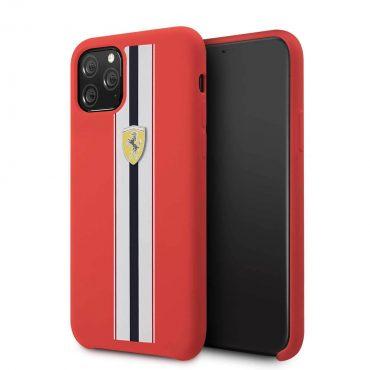 كفر سيليكون لآيفون 11 Pro من فيراري - أشرطة حمراء