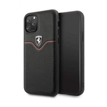 كفر جلد فيكتوري لجهاز آيفون 11 Pro من فيراري- أسود