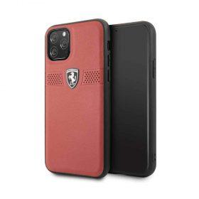 كفر جلدي لآيفون 11 Pro من فيراري - أحمر