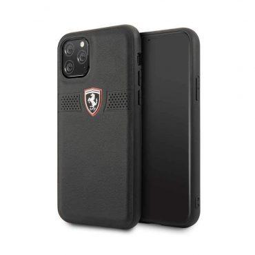 كفر جلدي لآيفون 11 Pro من فيراري - أسود