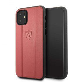 كفر جلدي فاخر لآيفون 11 Pro من فيراري - أحمر