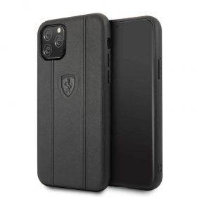 كفر جلدي فاخر لآيفون 11 Pro من فيراري - أسود