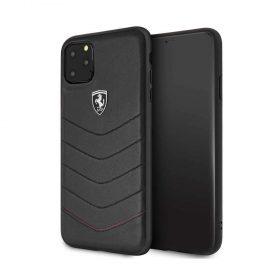كفر جلد لجهاز آيفون 11 Pro Max من فيراري - أسود