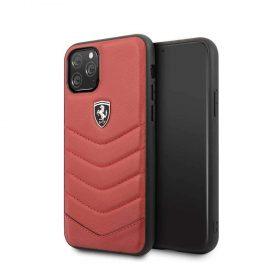 كفر جلد لجهاز آيفون 11 Pro من فيراري هيريتاج - أحمر