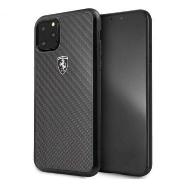 كفر حماية كربون لآيفون آبل 11 Pro Max من فيراري - أسود