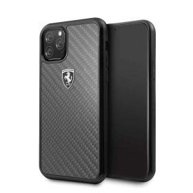 كفر حماية كربون لجهاز آيفون آبل 11 Pro من فيراري - أسود