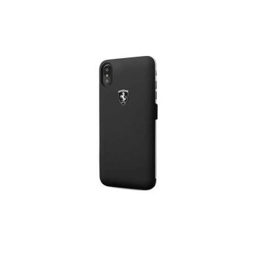 كفر مع باور بانك 3000 ملي أمبير iPhone X من Ferraril - أسود