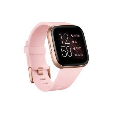 ساعة يد رياضية Versa 2 من Fitbit - وردي