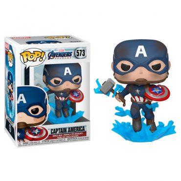 شخصية POP Marvel: Endgame- Capt A w/BrokenShield&Mjolnir