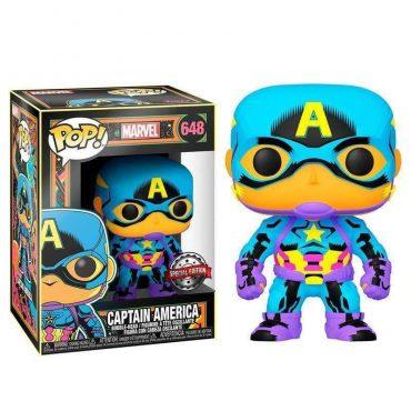 شخصية POP Marvel: Black Light- Captain America (Exc)