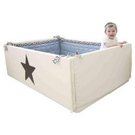 سرير أطفال GGUMBI Bumper Bed Lucky Star - عاجي