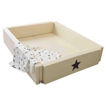 سرير أطفال متعدد الاستخدامات مقاس كبير مع نجمة GGUMBI Bumper Bed World Star - عاجي