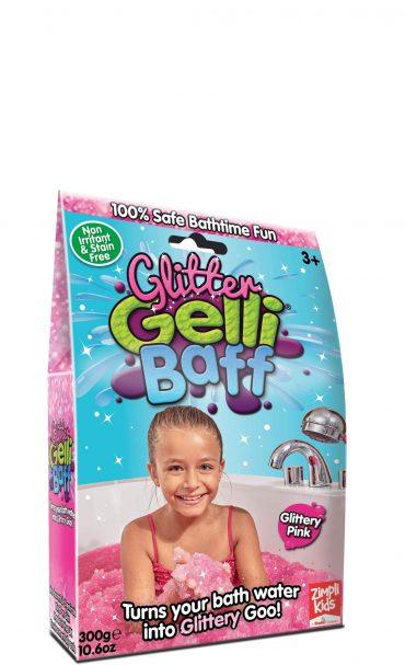 لعبة جيلي باف وردي لامع 300 جرام glibbi-Zimpli kids - Glitter Gelli Baff Glittery