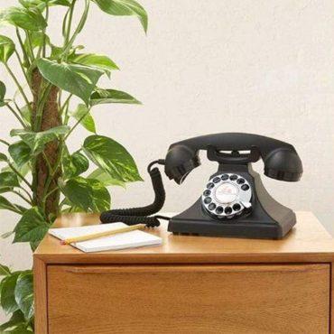هاتف الفندق روتاري 200 - كارينجتون الأسود من جي بي او