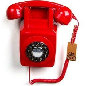 هاتف أرضي 746 Push-Button GPO - أحمر