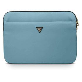 "حقيبة اللابتوب Guess Nylon Computer Sleeve with Metal Triangle Logo 13"" - Light Blue"