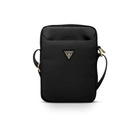 "حقيبة التابلت Guess Nylon Tablet Bag with Metal Triangle Logo 10"" - Black"