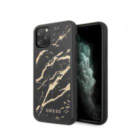 كفر أصلي بلمعة ذهبية لآيفون 11 Pro  من Guess - أسود