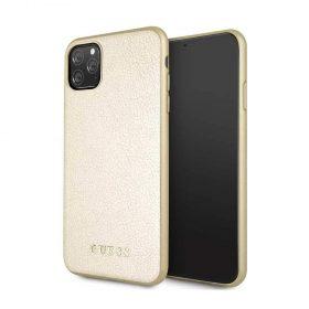 كفر جلد أصلي قزحي لآيفون 11 Pro Max من Guess - ذهبي