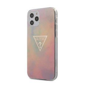 """كفر Guess PU/TPU Tie and Dye Hard Case for iPhone 12 / 12 Pro (6.1"""") - Pink"""