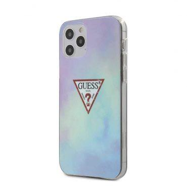 """كفر Guess PC/TPU Tie and Dye Hard Case for iPhone 12 / 12 Pro (6.1"""") - Blue"""