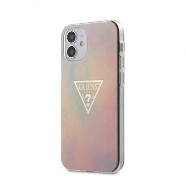 """كفر Guess PU/TPU Tie and Dye Hard Case for iPhone 12 Mini (5.4"""") - Pink"""