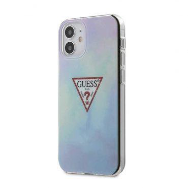 "كفر Guess PC/TPU Tie and Dye Hard Case for iPhone 12 Mini (5.4"") - Blue"