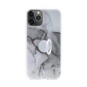كفر رخام أصلي مع حلقة لآيفون 11 Pro  من Habitu  - أرابيسكاتو