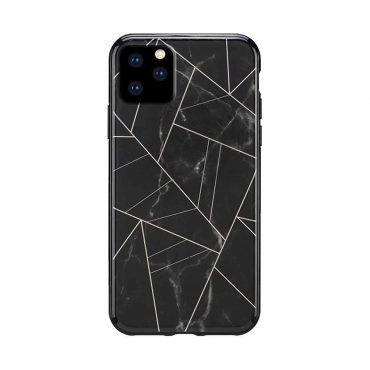 كفر رخام أصلي لآيفون 11 Pro Max من Habitu - أسود نحاسي
