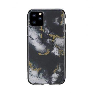 كفر رخام أصلي لآيفون 11 Pro من Habitu - أسود داكن مزخرف