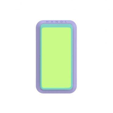 مسكة جوال لامعة من Handl - أخضر/ أرجواني